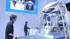 2018CES展:欧姆龙展示AI乒乓球手