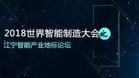2018世界智能制造大会·江宁智能产业地标论坛