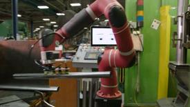 协作机器人Sawyer在金属冲压和压力机作业