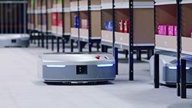 苏宁智能仓储机器人