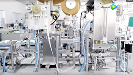 口罩自动化生产过程