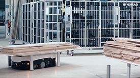 AGV在家具制造工厂中的应用